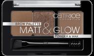 Палетка для макияжа бровей: тени, воскBrow Palette Matt & Glow Catrice 010молочный шоколад: фото