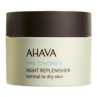 Ночной восстанавливающий крем для нормальной и сухой кожи Ahava Time To Hydrate 50 мл: фото