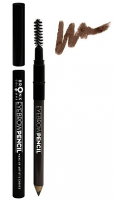 Карандаш для бровей Bronx Colors темно-коричневый Eyebrow Pencil DARK BROWN EBP04: фото