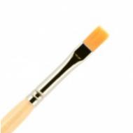 Кисть для ногтей (гель) ВАЛЕРИ-Д из нейлона №6 ровная в футляре: фото