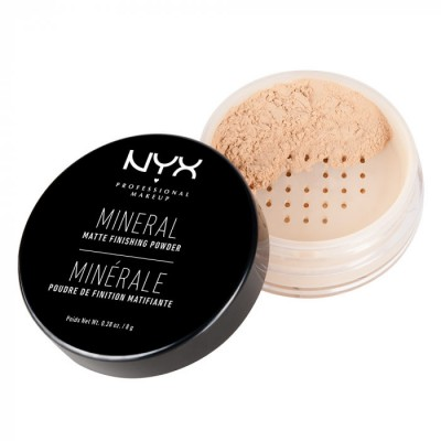 Рассыпчатая пудра NYX Professional Makeup Mineral Finishing Powder - LIGHT/MEDIUM 01: фото