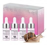 Сыворотка ампульная с муцином улитки для сияния кожи BERGAMO Snail ampoule set (20 ампул по 13 мл): фото