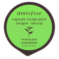 Маска капсульная для лица с экстрактом зеленого чая INNISFREE Сapsule Recipe Pack Green Tea: фото