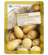 Тканевая 3D маска с экстрактом картофеля FoodaHolic Potato Natural Essence Mask 23мл: фото