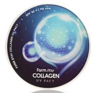 Пудра компактная с коллагеном FARMSTAY Collagen UV pact 12г*2: фото