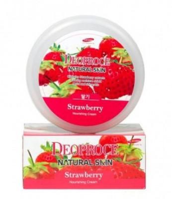 Крем для лица и тела с клубникой DEOPROCE Natural skin strawberry nourishing cream 100г: фото