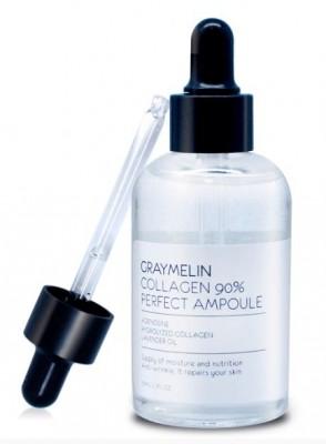 Коллагеновая ампула 90% GRAYMELIN Collagen 90% perfect ampoule 50мл: фото