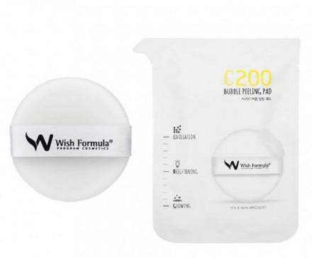 Пилинг-пэд для выравнивания тона проблемной кожи WISH FORMULA C200 Bubble Peeling Pad 15мл: фото