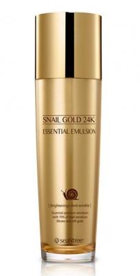 Эмульсия для лица с муцином улитки и золотом SEANTREE Snail gold 24K essential emulsion 130мл: фото