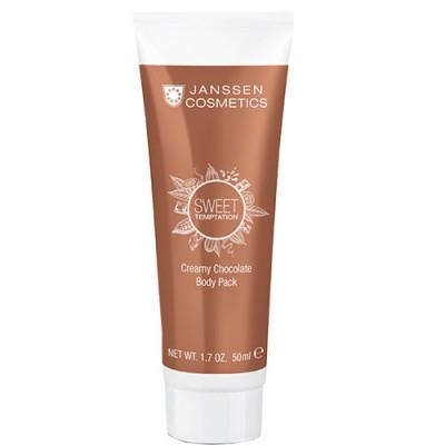 Обертывание корректирующее шоколадное кремовое Janssen Cosmetics SWEET TEMPTATION Creamy Chocolate Body Pack 50мл: фото