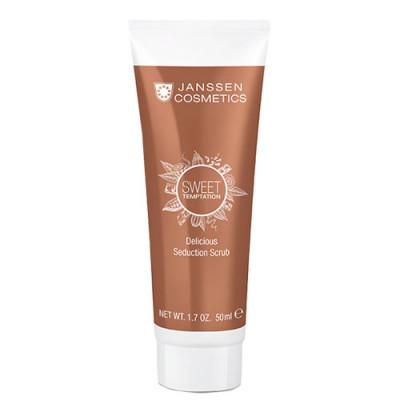 Скраб для тела релаксирующий с экстрактом какао Janssen Cosmetics SWEET TEMPTATION Delicious Seduction Scrub 50мл: фото