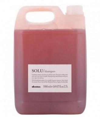Шампунь активно освежающий для глубокого очищения волос Davines SOLU shampoo 5000 мл: фото