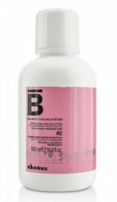 Лосьон для химической завивки окрашенных волос №2 Davines BALANCE CURLING SYSTEM Protecting curling lotion #2 500мл: фото