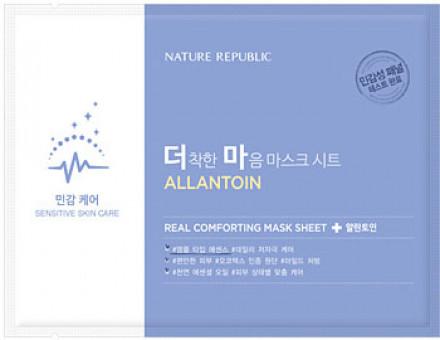 Маска тканевая для чувствительной кожи NATURE REPUBLIC REAL COMFORTING MASK SHEET [ALLANTOIN] 24гр: фото