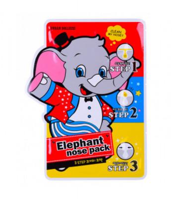 Маска против черных точек Baviphat Urban Dollkiss 3-STEP Elephant Nose Pack 3мл: фото