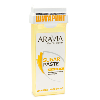 Паста сахарная для депиляции в картридже Медовая, очень мягкой консистенции Aravia Professional 150г: фото