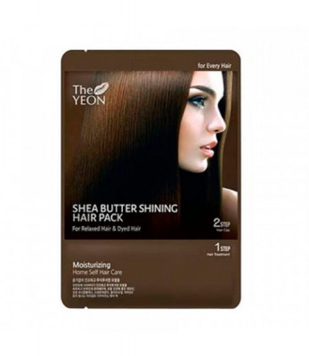 Маска для волос с маслом Ши TheYEON Shea butter shining hair pack 25гр: фото