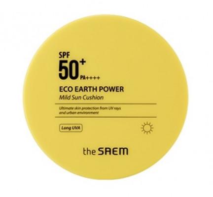 Солнцезащитный кушон THE SAEM Eco Earth Power Mild Sun Cushion 12г: фото