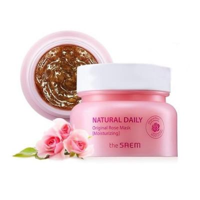 Маска для лица с лепестками роз Natural Daily Original Rose Mask 100г: фото