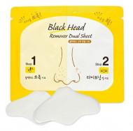Комплекс по очищению пор носа ETUDE HOUSE Black Head Remover Dual Sheet (1sheet) 3мл*2г: фото