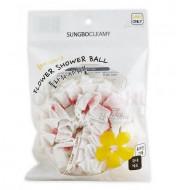 Мочалка для душа Sungbo Cleamy CLEAN&BEAUTY Flower shower ball 1шт: фото