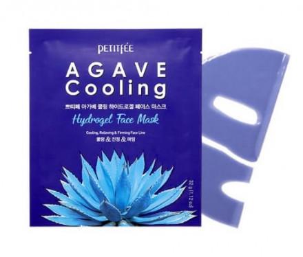 Маска гидрогелевая с экстрактом агавы Petitfee Agave Cooling Hydrogel Face Mask: фото