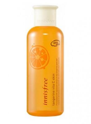 Тонер с экстрактом мандарина Innisfree Tangerine Vita C Skin 200мл: фото