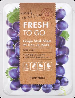 Освежающая тканевая маска для лица с экстрактом винограда Tony Moly Fresh To Go Grape Mask Sheet 22г: фото