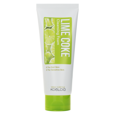 Пенка очищающая с экстрактом лайма KOELCIA LIME COKE CLEANSING FOAM 120 мл: фото