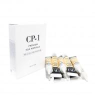 Сыворотка несмываемая для волос с протеинами шелка ESTHETIC HOUSE CP-1 Premium Silk Ampoule, 10*20мл