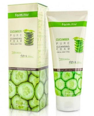 Пенка для умывания с экстрактом огурца FarmStay Cucumber Pure Cleansing Foam: фото