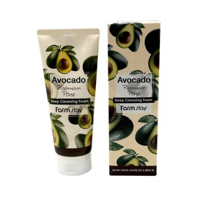 Пенка очищающая с экстрактом авокадо FarmStay Avocado Premium Pore Deep Cleansing Foam: фото