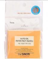 Салфетки матирующие, сменный блок THE SAEM Auto Oil Paper Pact (Refills) 50шт: фото