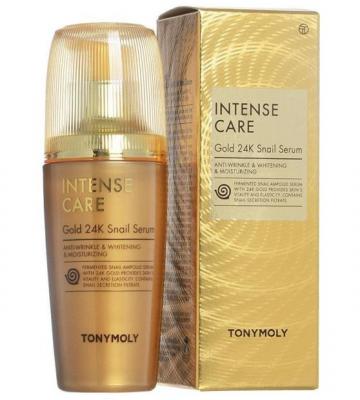 Сыворотка для лица улиточная Tony Moly Intense Care Gold 24K Snail Serum 35 мл: фото