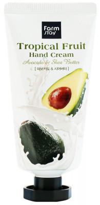 Крем для рук с авокадо и маслом ши FarmStay Tropical Fruit Avocado&Shea Butter 50мл: фото