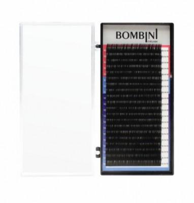 Ресницы Bombini Черные, 20 линий, изгиб D – MIX 9-12 0.05: фото