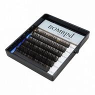 Ресницы Bombini Truffle Темно-коричневые, 6 линий, изгиб D mini-MIX (8-13) 0.07: фото