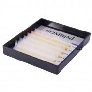 Ресницы Bombini Holi Белые, 6 линий, изгиб С MIX (8-13) 0.10: фото