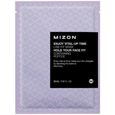 Тканевая маска для подтяжки овала лица MIZON Enjoy Vital-Up Time Line Fit Mask: фото