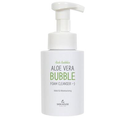 Пенка для умывания с экстрактом алоэ THE SKIN HOUSE Aloe Vera Bubble Foam Cleanser 300мл: фото
