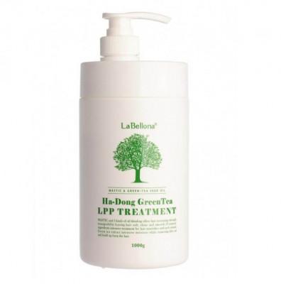Маска для волос с зеленым чаем Gain Cosmetics LABELLONA HA-DONG GREEN TEA LPP TREATMENT 1000мл: фото