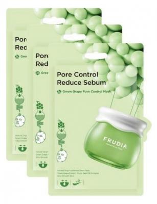 Себорегулирующая тканевая маска с зеленым виноградом Frudia Green Grape Pore Control Mask 20мл*3шт: фото