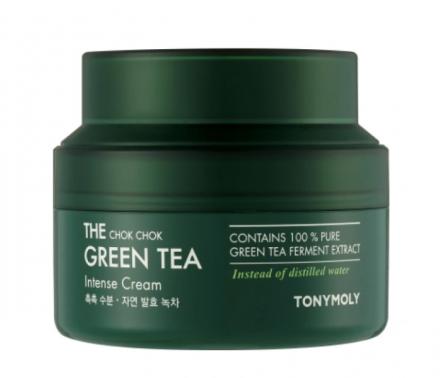 Увлажняющий крем для лица с экстрактом зеленого чая TONY MOLY THE CHOK CHOK GREEN TEA Intense Cream 60мл: фото