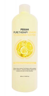 Очищающая мицеллярная вода с экстрактом лимона PEKAH Pure Therapy Lemon Cleansing Water 500 мл: фото