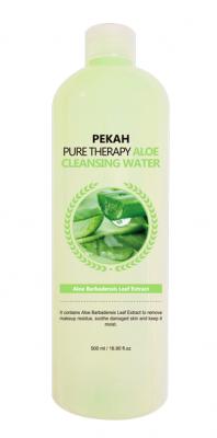 Очищающая мицеллярная вода с экстрактом алоэ PEKAH Pure Therapy Aloe Cleansing Water 500 мл: фото