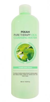 Очищающая мицеллярная вода с экстрактом центеллы азиатской PEKAH Pure Therapy Cica Cleansing Water 500 мл: фото
